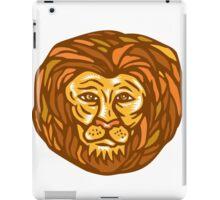 Lion Head Woodcut Linocut iPad Case/Skin