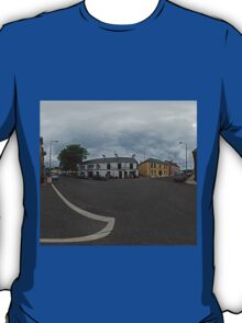 Carrick Crossroads, Donegal(Rectangular)  T-Shirt