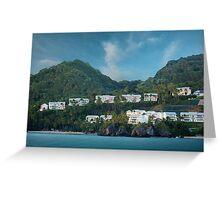 Dominican Republic Coastline Greeting Card
