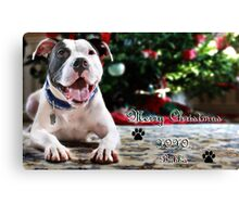 Bubba's First Christmas Canvas Print