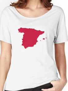Spain Map Women's Relaxed Fit T-Shirt