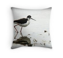 Black Necked Stilt - Wetlands Throw Pillow