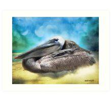 Old Mr. Pelican Art Print