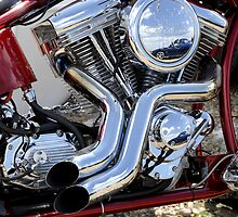 Custom V twin Motorcycle Engine by lightmonger