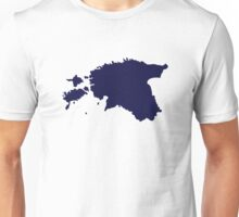 Estonia map Unisex T-Shirt