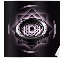 Black & White Reflection Ring Pattern Poster