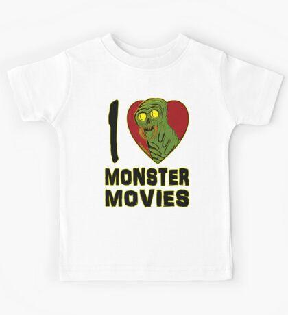 I Love Monster Movies Kids Tee