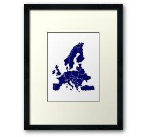 Europe Map Framed Print