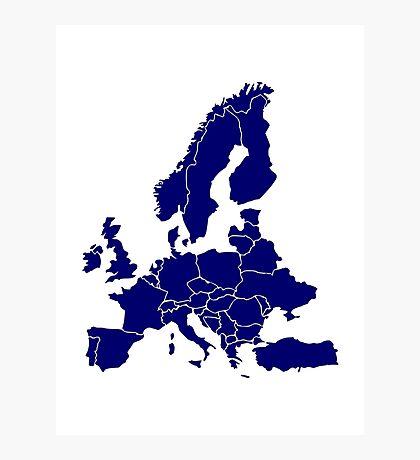 Europe Map Photographic Print