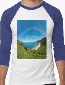 Kinnagoe Bay Panorama Men's Baseball ¾ T-Shirt