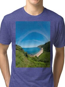 Kinnagoe Bay Panorama Tri-blend T-Shirt