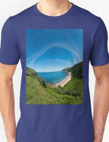 Kinnagoe Bay Panorama T-Shirt