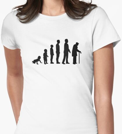 Evolution grandfather Womens Fitted T-Shirt