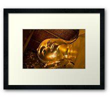 Declining Buddha Framed Print