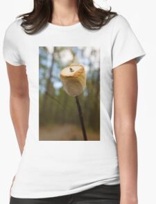 Roasting Marshmallows Womens Fitted T-Shirt