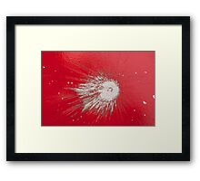 Impact #2 - Red Framed Print