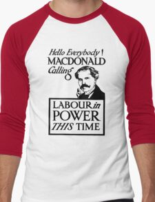 1923 ELECTIONS- LABOUR Men's Baseball ¾ T-Shirt