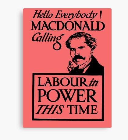 1923 ELECTIONS- LABOUR Canvas Print