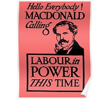1923 ELECTIONS- LABOUR Poster