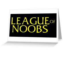 League of NOOBS Greeting Card