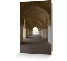 Mughal door ways Greeting Card