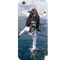 Scuba Diver Jump iPhone Case/Skin