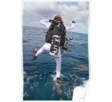 Scuba Diver Jump Poster