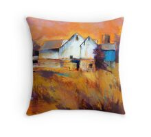 Warm Autumn Sun ( Barn ) From original pastel painting by Madeleine Kelly Throw Pillow