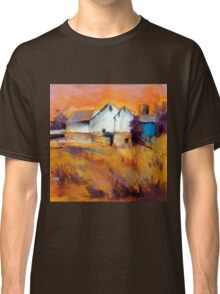 Warm Autumn Sun ( Barn ) From original pastel painting by Madeleine Kelly Classic T-Shirt