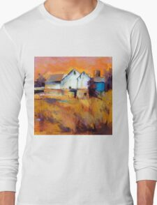 Warm Autumn Sun ( Barn ) From original pastel painting by Madeleine Kelly Long Sleeve T-Shirt