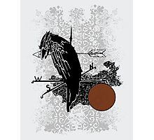 The Raven and the Moon Photographic Print