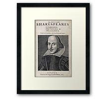 William Shakespeare Portrait Framed Print