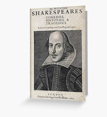 William Shakespeare Portrait Greeting Card