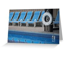 Pool Side Greeting Card