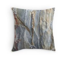 Marbled rock Throw Pillow