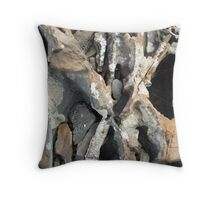 Rock crossroad Throw Pillow