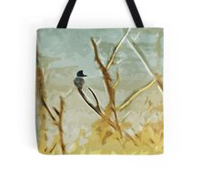 Belted Kingfisher At Rivers Edge Tote Bag
