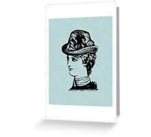 Dressed for High Tea - Lady in a Hat Greeting Card