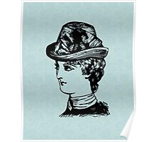 Dressed for High Tea - Lady in a Hat Poster