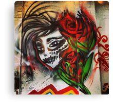 Sugar Skull Graffiti 2013 Canvas Print