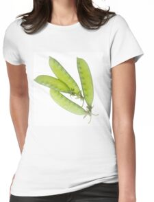 Snow Peas Womens Fitted T-Shirt