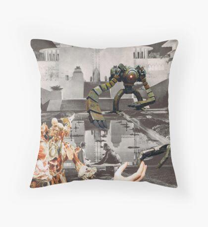 Flesh meets Metal Throw Pillow