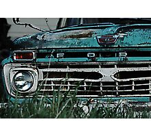 Ford Truck - On the Farm Photographic Print