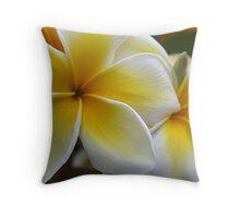 Frangipani  (Plumeria)  Throw Pillow
