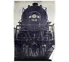 Vintage Steam Engine Poster