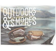 OUTDOORS & S'MORES Poster