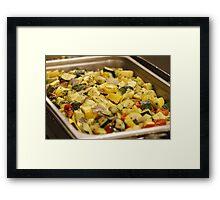 Steamed Vegetables Framed Print