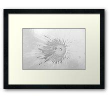 Impact #2 - Black & White Framed Print