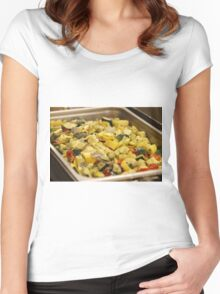 Steamed Vegetables Women's Fitted Scoop T-Shirt