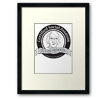 Certified Social Assassin Framed Print